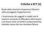 critiche a ect 1