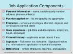 job application components