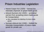 prison industries legislation