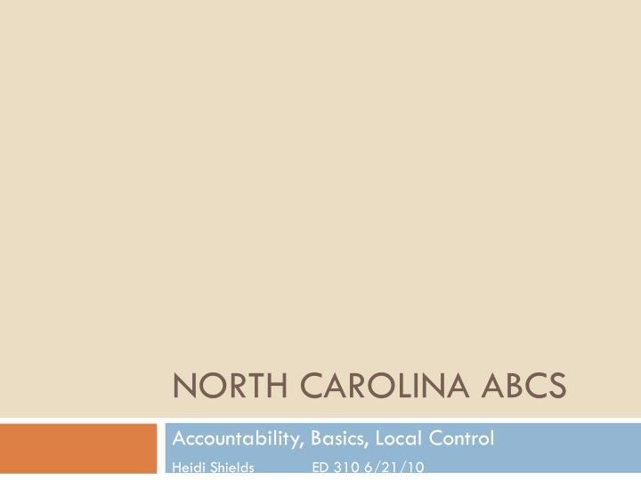 north carolina abcs n.