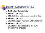 design constraints 3 2