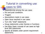 tutorial in converting use cases to srs