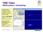 tine video multicasting scheduling