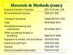 materials methods cont