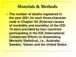 materials methods