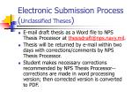 electronic submission process unclassified theses