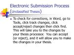 electronic submission process unclassified theses1