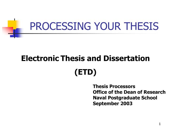 processing your thesis n.