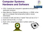 computer systems hardware and software2