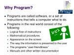 why program1