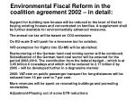 environmental fiscal reform in the coalition agreement 2002 in detail