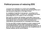 political process of reducing eds