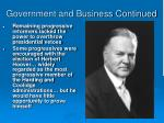 government and business continued