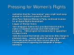 pressing for women s rights