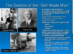 the decline of the self made man