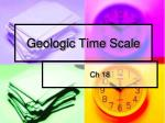 geologic time scale