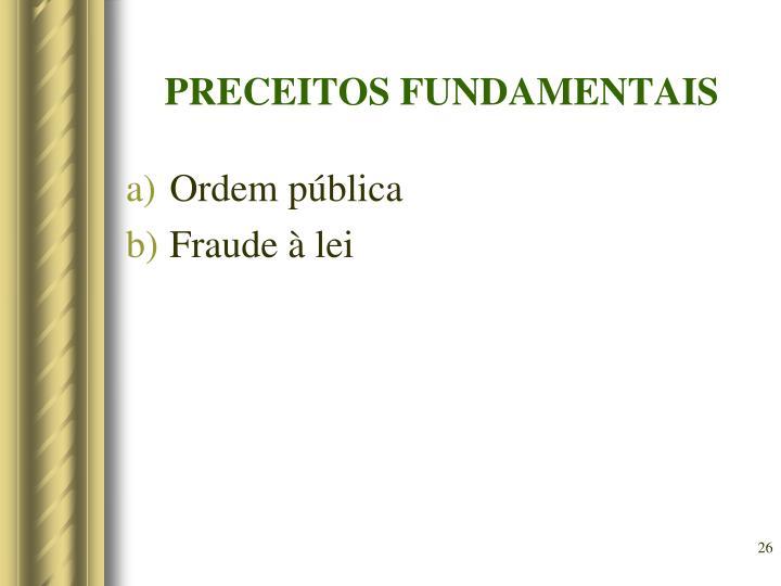 PRECEITOS FUNDAMENTAIS