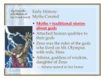 early history myths created