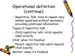 operational definition continue