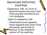 operational definitions continue