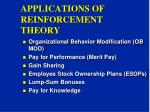 applications of reinforcement theory