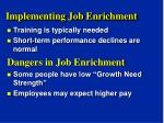 implementing job enrichment