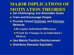 major implications of motivation theories
