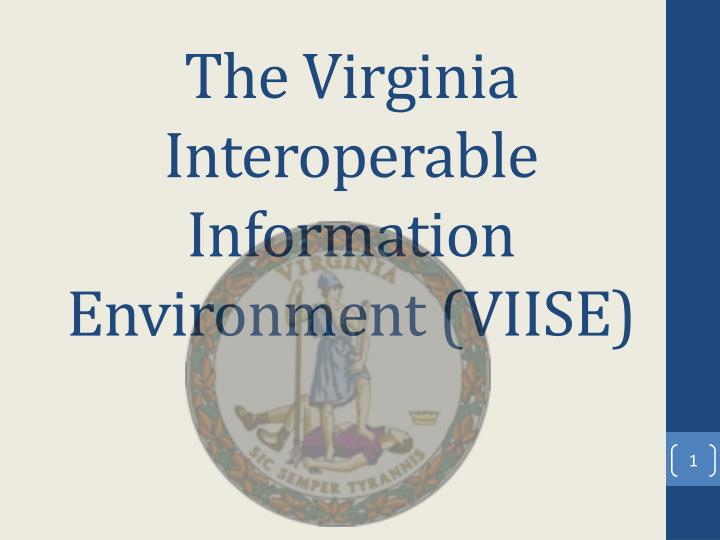 the virginia interoperable information environment viise n.