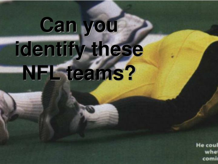 can you identify these nfl teams n.