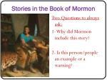 stories in the book of mormon