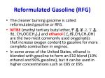 reformulated gasoline rfg