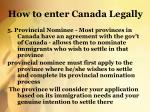 how to enter canada legally4