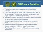 cinc as a solution