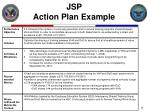 jsp action plan example