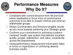 performance measures why do it
