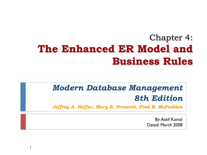 chapter 4 the enhanced er model and business rules n.