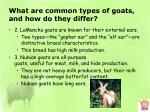 what are common types of goats and how do they differ2