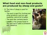 what food and non food products are produced by sheep and goats2