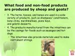 what food and non food products are produced by sheep and goats4