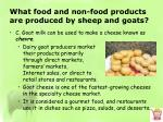 what food and non food products are produced by sheep and goats5