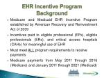 ehr incentive program background1