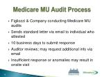 medicare mu audit process