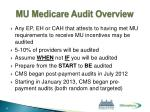 mu medicare audit overview