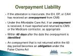 overpayment liability