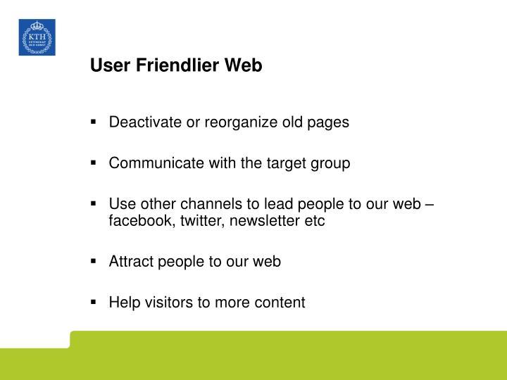 User Friendlier Web