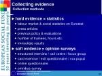 collecting evidence collection methods