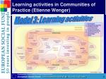 learning activities in communities of practice etienne wenger