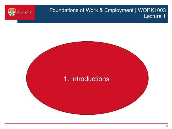 Foundations of work employment work1003 lecture 11