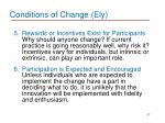 conditions of change ely2