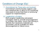 conditions of change ely3